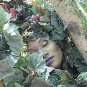 Mother Nature by Terri Durden - People Portraits of Women ( #beauty, #women, #leaves, #mothernature, #serene,  )