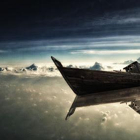 Old ship by R Siswanty - Digital Art Things
