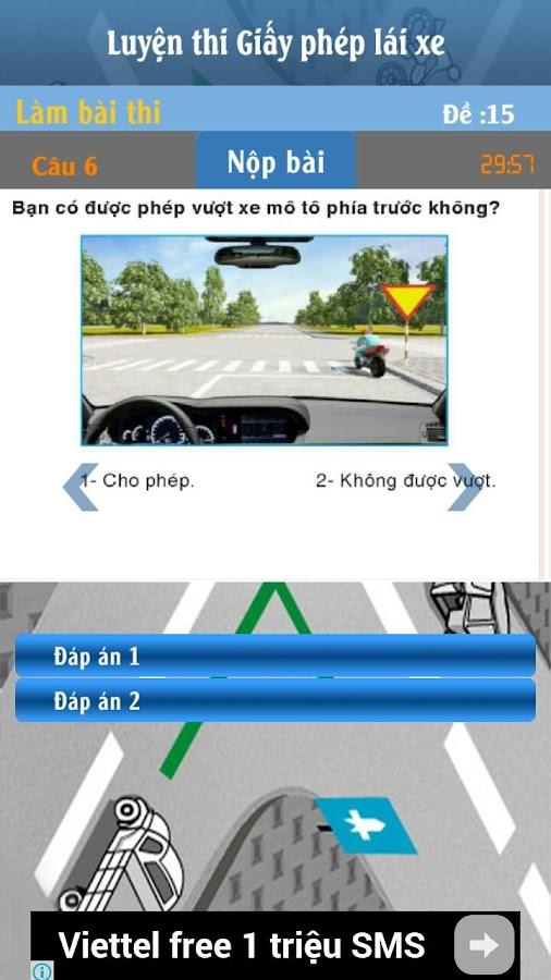 15 Đề Thi GPLX ô tô B2- screenshot