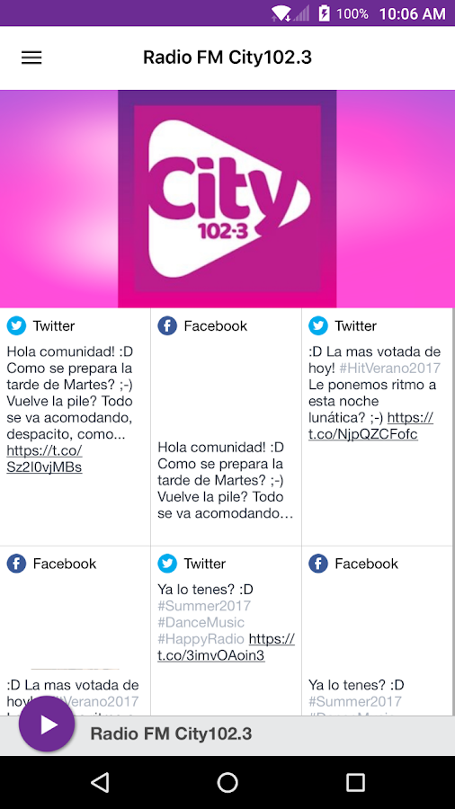Radio FM City102.3- screenshot
