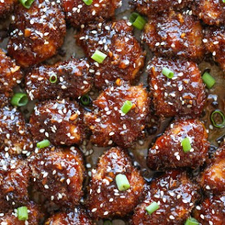 Sticky Garlic Chicken Bites.