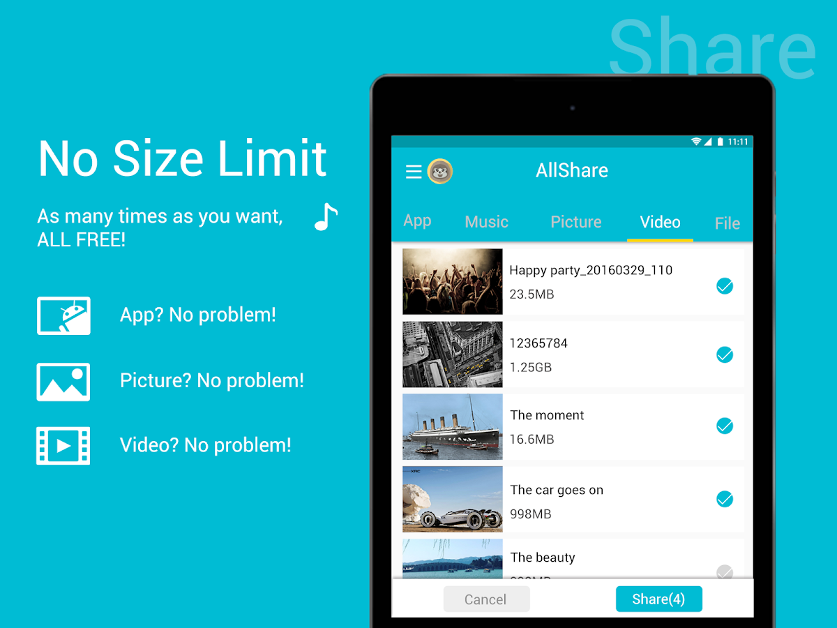 AllShare:File Transfer,Sharing- screenshot