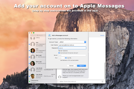 SMS for iChat (iMessage app)- screenshot thumbnail