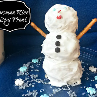 Snowman Rice Crispy Treats