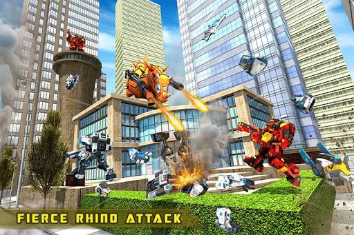 Rhino Robot Car transforming games u2013 City battle filehippodl screenshot 3