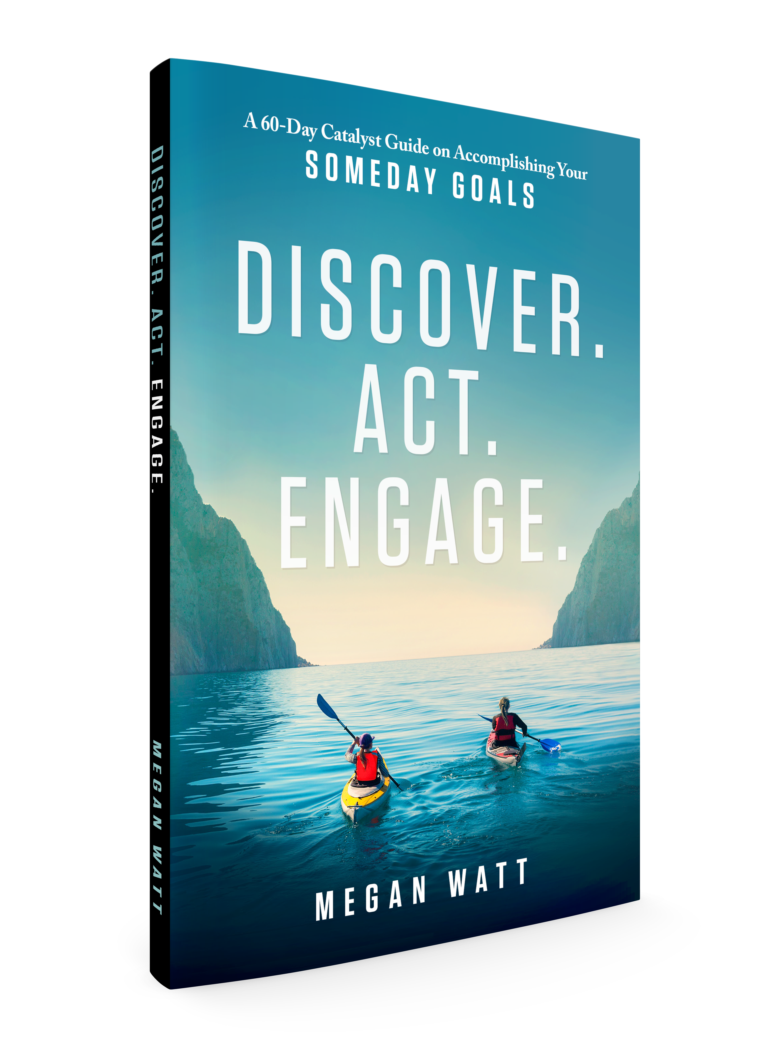 Discover. Act. Engage. 3D Book Cover