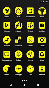 Yellow and Black Icon Pack v2.2 - náhled