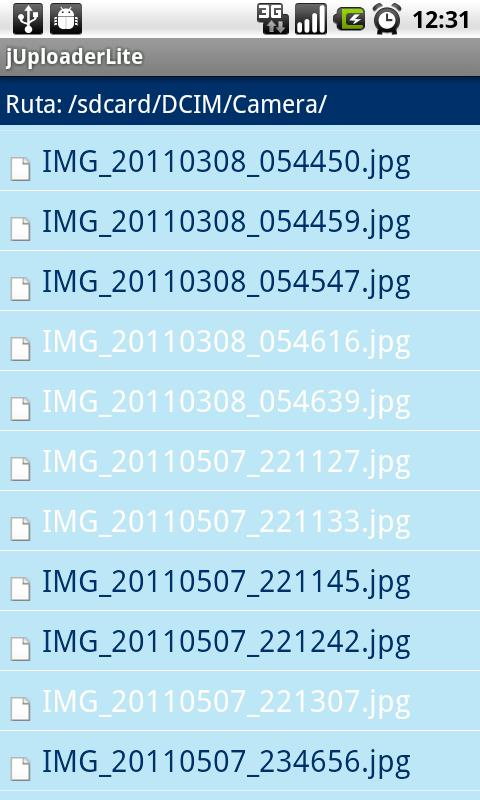 Скриншот jUploader Lite