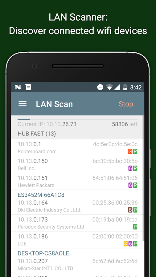 Net Analyzer: wifi, ping tools- screenshot