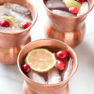 Cranberry Moscow Mule with Homemade Cranberry Simple Syrup