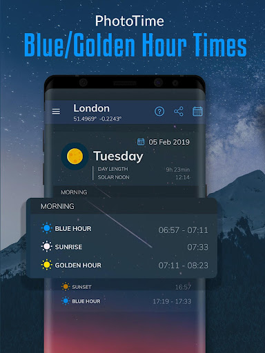 PhotoTime: Golden Hour, Blue Hour Calc Light 2.1.5 screenshots 1