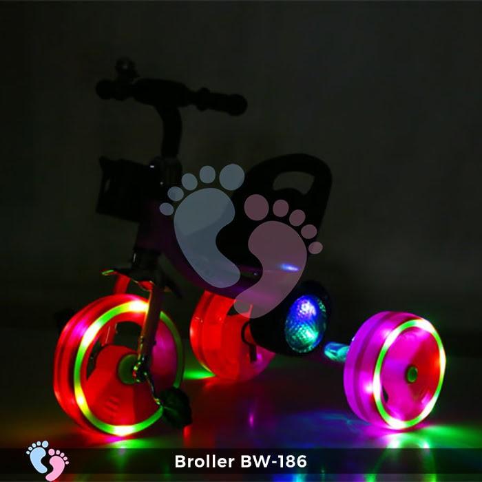 Xe đạp 3 bánh Broller XD3-186 có đèn bánh xe 1