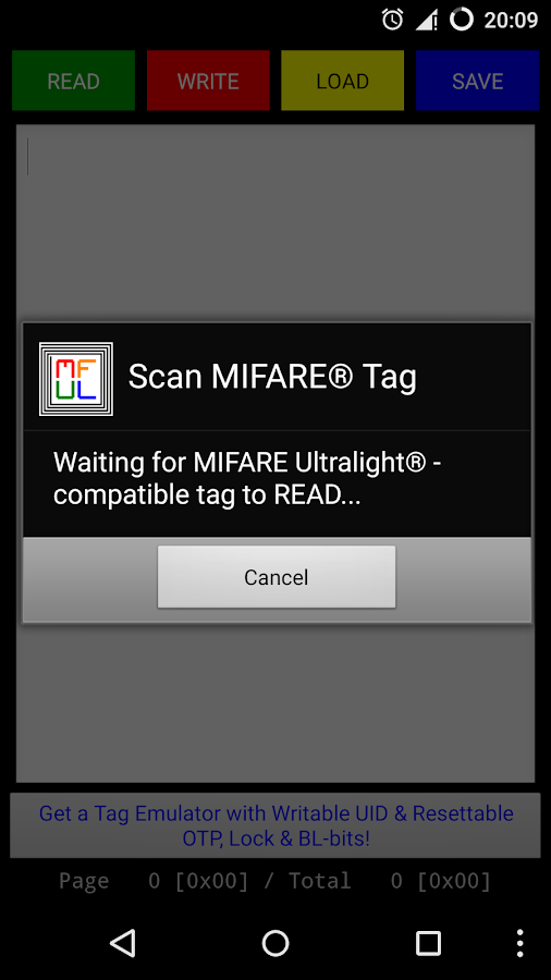 MIFARE++ Ultralight- screenshot
