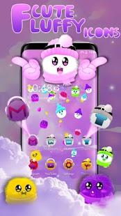 3D Cute Fluffy Emoji Theme - náhled
