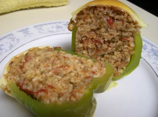 Susan's Stuffed Peppers (rice And Beef) Recipe
