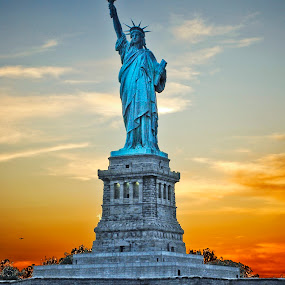Lady Liberty by Megan Richardson - Travel Locations Landmarks