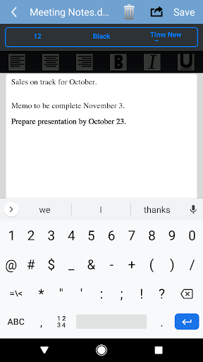 Simple Office: Word Docs Editor for Android screenshot 7