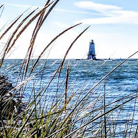 Ludington Lighthouse by Jennifer Smusz - Landscapes Waterscapes ( #lake, #greatlakes, #lighthouse, #michigan, #lakemichigan )