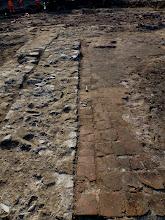 Photo: Přerov. Na Marku. Celkový pohled od východu na část zachovalé renesanční podlahy zachycené podél vnitřní líce jižní obvodové zdi lodě bratrského sboru. (foto. Z. Schenk)
