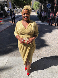 DA MP Phumzile van Damme's short dress helped her to stay cool amid the soaring Cape Town heat ahead of the state of the nation address in parliament in Cape Town on February 7 2019.
