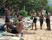 Bafana Bafana players take the out to spend time at the beach while on a 2019 Africa Cup of Nations qualifier in Seychelles.