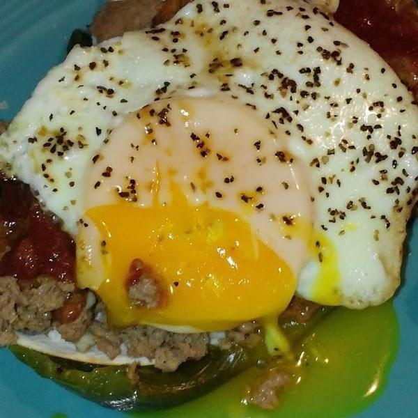 Green Chile Huevos Rancheros Recipe