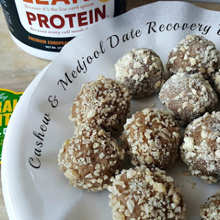 Cashew and Medjool Date Recovery Bites.