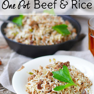 15 Minute Beef and Rice Dish