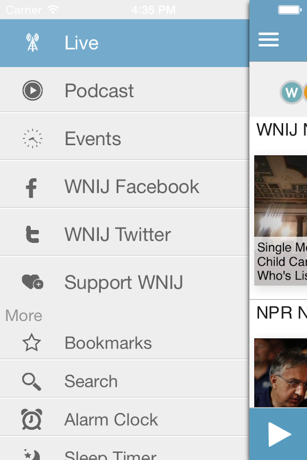 WNIJ Public Radio App- screenshot