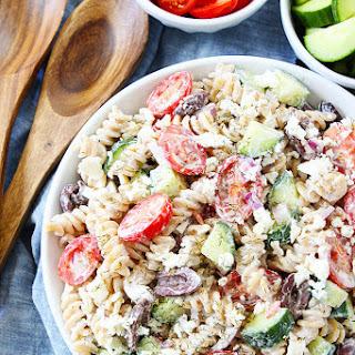 Creamy Greek Pasta Salad Recipe