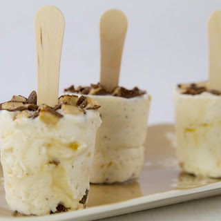 Caramel Toffee Vanilla Ice Cream Pops.