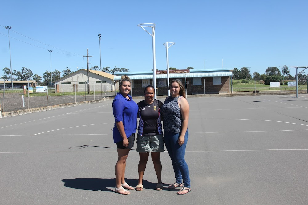 Indigenous Australia Representatives: Allyssa, Kristie and Katarnie Toomey. The trio will represent Indigenous Australia at the Challenge of the Islands netball competition in Brisbane in November.