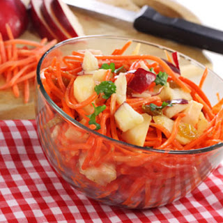 Carrot, Apple, and Walnut Salad