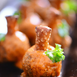 Buffalo Meatball Pumpkins