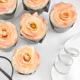 A Dozen Rose Cupcakes.