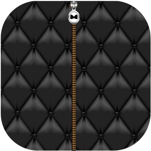 Black Leather ZipperScreenLock