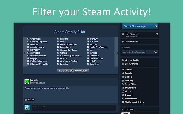 Steam Activity Filter
