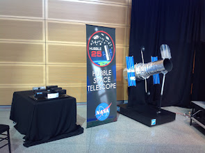Photo: Display items at NASA's televised press conference held at the Newseum on April 23, 2015.