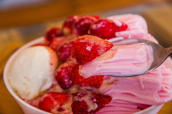 打貓冰果室 x 草莓雪花冰 x 日式麻糬紅豆湯 都好吸引人!
