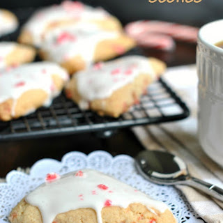 White Chocolate Peppermint Scones