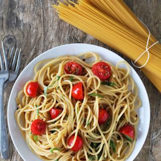 Garden Fresh Tomato, Basil, and Garlic Brown Butter Pasta