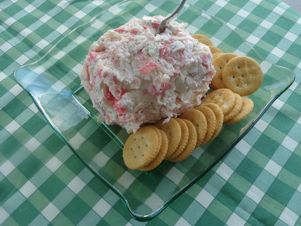 Crab Salad Cheese Ball Or Spread Recipe