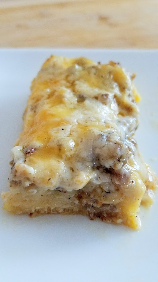 Recipe for Biscuit Eggs Sausage and Cheese Breakfast Casserole