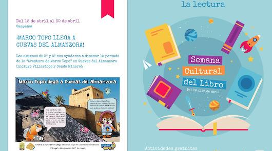 Cuevas del Almanzora conmemora el 23 de abril con una Semana Cultural del Libro