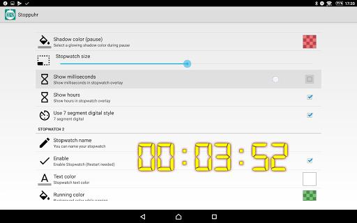 Floating Stopwatch, free multitasking timer 3.2.7 screenshots 7