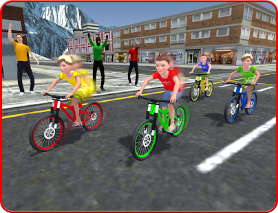 Kids Bicycle Rider Street Race- screenshot thumbnail
