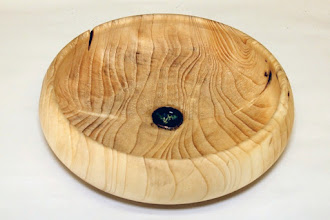 "Photo: Ellen Davis 9 1/2"" x 2 7/8"" bowl [pine, copper, metal]"