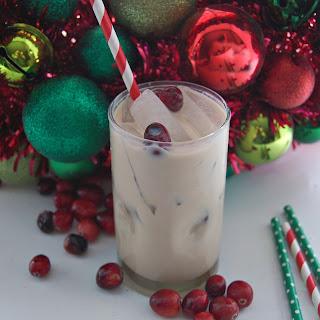 Minty Santa Holiday Cocktail.