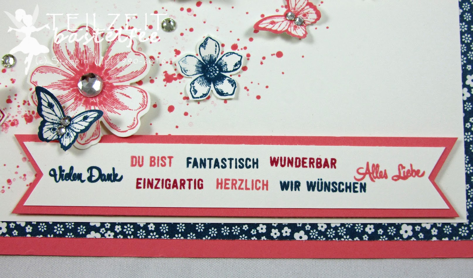 Stampin' Up! – InColors, Abschied, Good Bye, Petite Petals, Flower Shop, Bannerweise Grüße, Thoughtful Banners, Fähnchen, Banner, Papillon Potpourri, Gorgeous Grunge