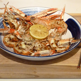 Grilled Scottish Langoustines with Lemon and Pepper Butter